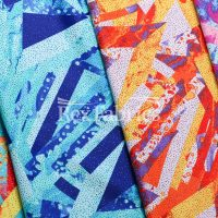 Geo Pop Foil / 4-Way Stretch Poly Spandex Print Tricot