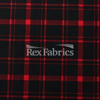 Modern Plaid Red Black