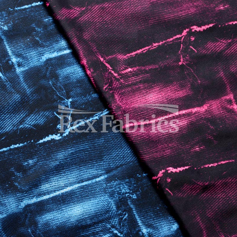 Multi-colored Sewing Materials DIY Fabric Costume Fabric 4 Way Stretch Patches Print On Polyester Spandex Sold By The Yard